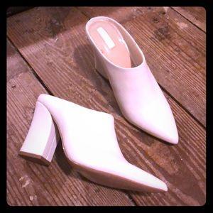 White Heeled Mules
